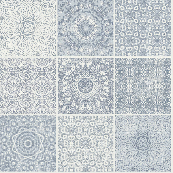 Picture of Tile Blue Mosaic Wallpaper