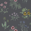 Picture of Maj Blue Wildflower Wallpaper