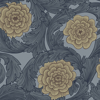 Picture of Rosa Blue Ornamental Florals Wallpaper