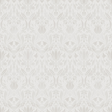 Picture of Ludvig Beige Floral Ogee Wallpaper