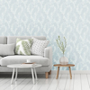Picture of Twig Blue Botanical Wallpaper