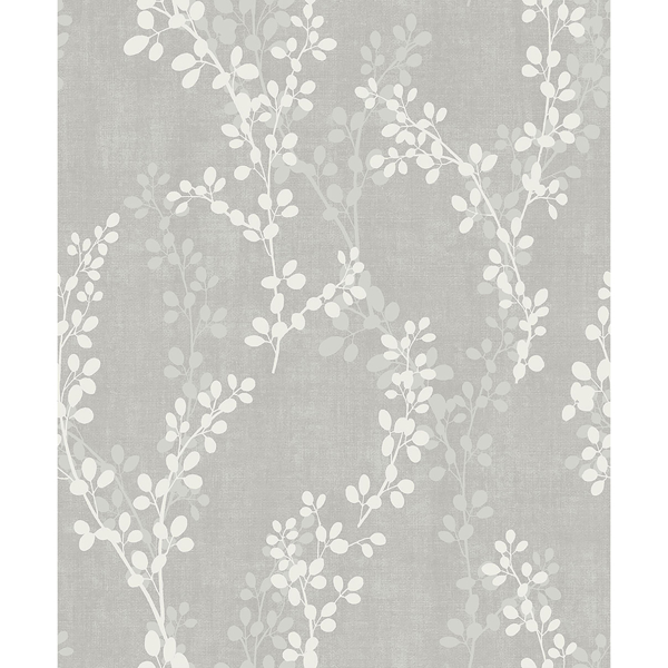Picture of Twig Grey Botanical Wallpaper