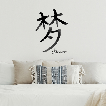 Picture of Dream Chinese Character Wall Art Kit