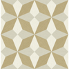 Picture of Valiant Gold Faux Grasscloth Mosaic Wallpaper