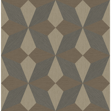 Picture of Valiant Copper Faux Grasscloth Mosaic Wallpaper
