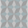 Picture of Valiant Light Blue Faux Grasscloth Mosaic Wallpaper