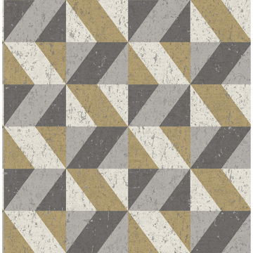 Picture of Cerium Moss Concrete Geometric Wallpaper