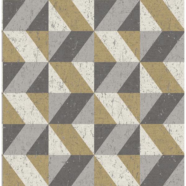 Picture of Cerium Moss Concrete Geometric Wallpaper