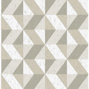 Picture of Cerium Dark Grey Concrete Geometric Wallpaper