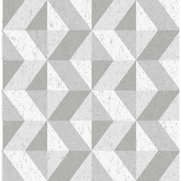 Picture of Cerium Grey Concrete Geometric Wallpaper