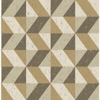 Picture of Cerium Gold Concrete Geometric Wallpaper