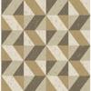 Picture of Cerium Gold Concrete Geometric Wallpaper