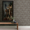 Picture of Cheverny Brown Wood Tile Wallpaper