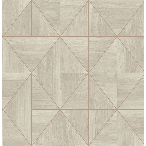 Picture of Cheverny Grey Wood Tile Wallpaper