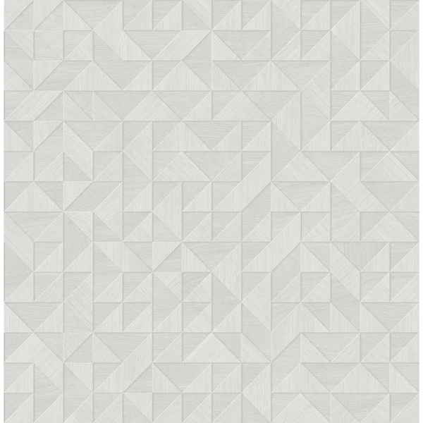 Picture of Gallerie Light Grey Triangle Geometric Wallpaper