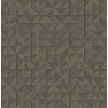 Picture of Gallerie Dark Grey Triangle Geometric Wallpaper