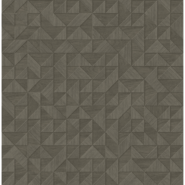 Picture of Gallerie Dark Grey Triangle Geometric Wallpaper