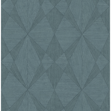 Picture of Intrinsic Teal Textured Geometric Wallpaper