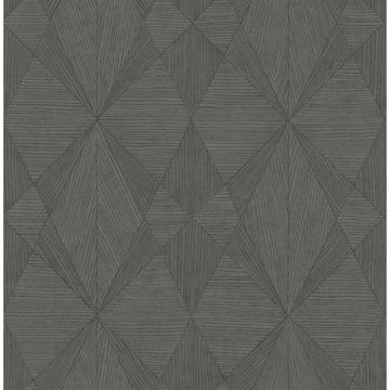 Picture of Intrinsic Dark Grey Textured Geometric Wallpaper