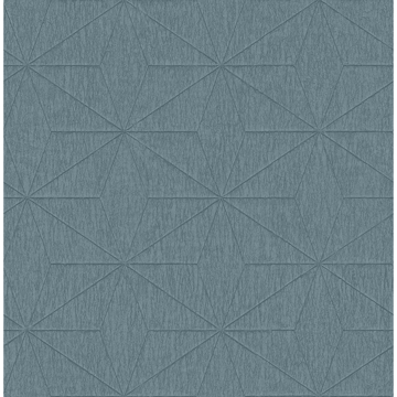 Picture of Bernice Teal Diamond Geometric Wallpaper