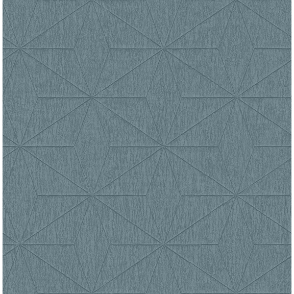 Picture of Bernice Teal Diamond Geometric Wallpaper