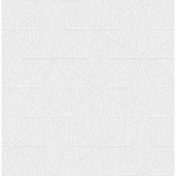 Picture of Bernice White Diamond Geometric Wallpaper