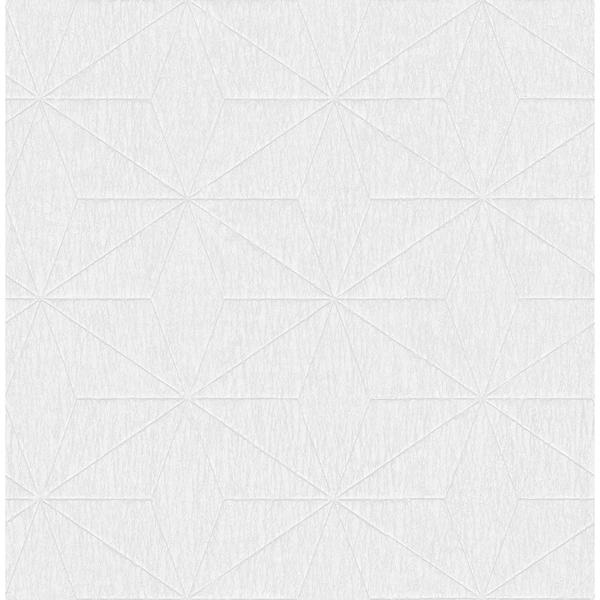 Picture of Bernice White Diamond Geometric Wallpaper