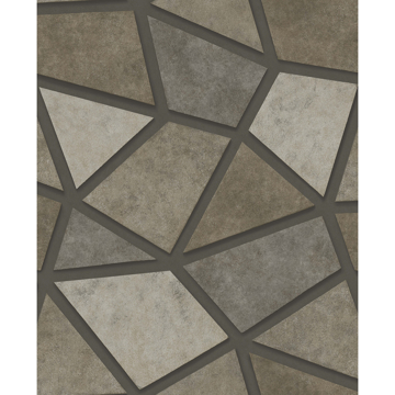 Picture of Coty Stone Geometric Patchwork Wallpaper