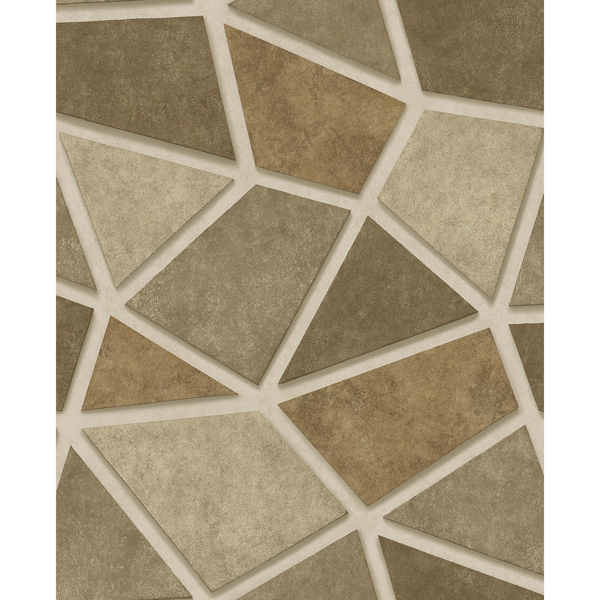 Picture of Coty Brass Geometric Patchwork Wallpaper