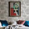 Picture of Duchamp Silver Patchwork Metallic Wallpaper