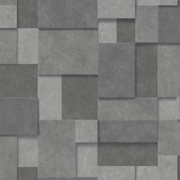 Picture of Duchamp Dark Grey Patchwork Metallic Wallpaper
