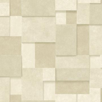 Picture of Duchamp Wheat Patchwork Metallic Wallpaper