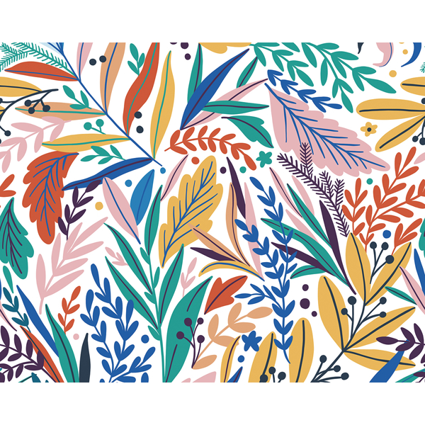 Picture of Tropical Patterned Leaves Wall Mural