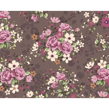 Picture of Illustration of Rose Bouquets Wall Mural