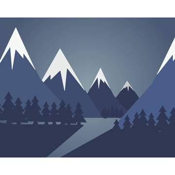Picture of Snow Mountain Wall Mural