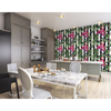 Picture of Exotic Flamingo In Leaves Wall Mural