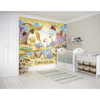 Picture of African Cartoon Animals With Volcanoes Wall Mural