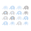 Picture of Baby Blue Elephant Wall Mural