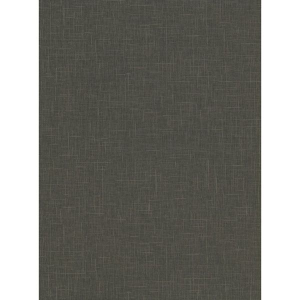 Picture of Linville Charcoal Faux Linen Wallpaper