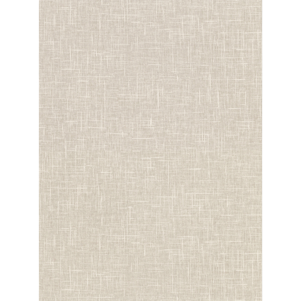Picture of Linville Taupe Faux Linen Wallpaper