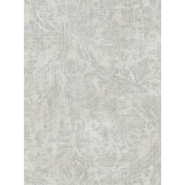 Picture of Abigail Light Grey Damask Wallpaper