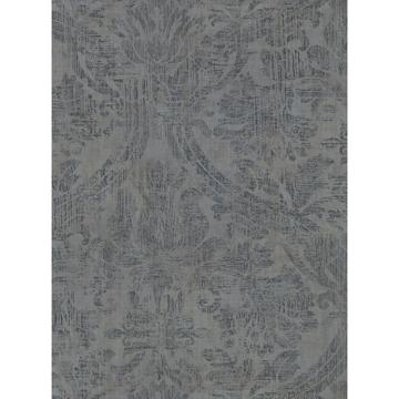 Picture of Abigail Dark Grey Damask Wallpaper