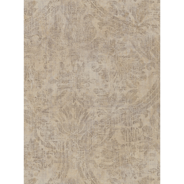Picture of Abigail Khaki Damask Wallpaper