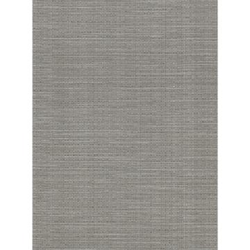 Picture of Bay Ridge Dark Grey Faux Grasscloth Wallpaper