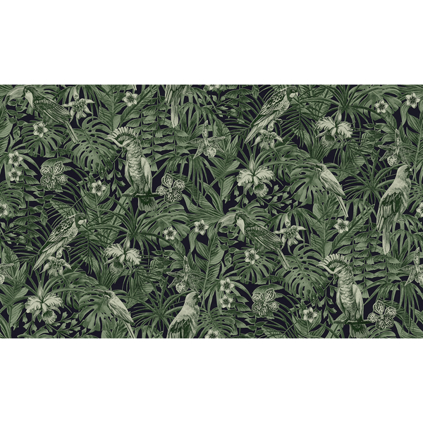 Picture of Susila Green Tropical Wallpaper