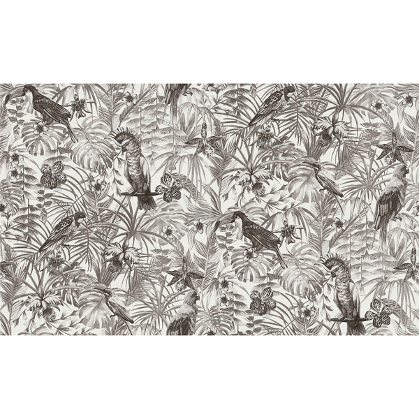Picture of Susila Grey Tropical Wallpaper