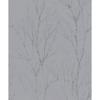 Picture of Diani Pewter Metallic Tree Wallpaper
