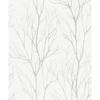 Picture of Diani White Metallic Tree Wallpaper