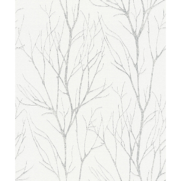 Picture of Diani White Metallic Tree Wallpaper