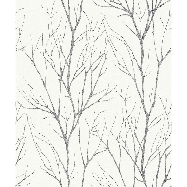 Picture of Diani Charcoal Metallic Tree Wallpaper